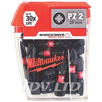 Бита Milwaukee PZ2 5x25мм (10шт.)
