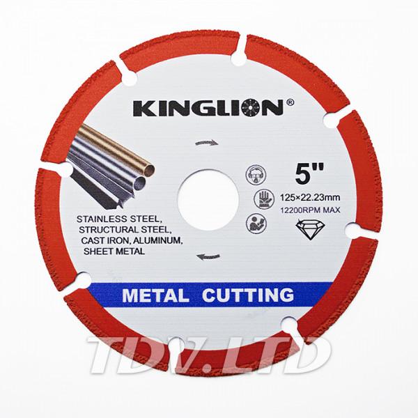 Диск алмазный отрезной KingLion 125мм по металлу