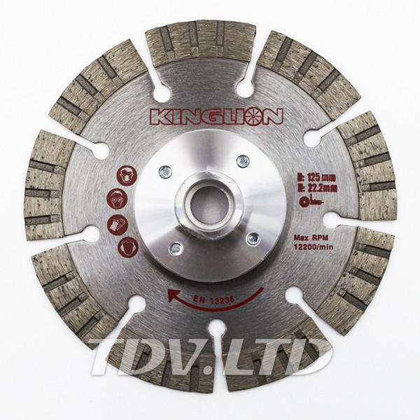 Диск алмазный отрезной KingLion 125 мм TW-S с гайкой