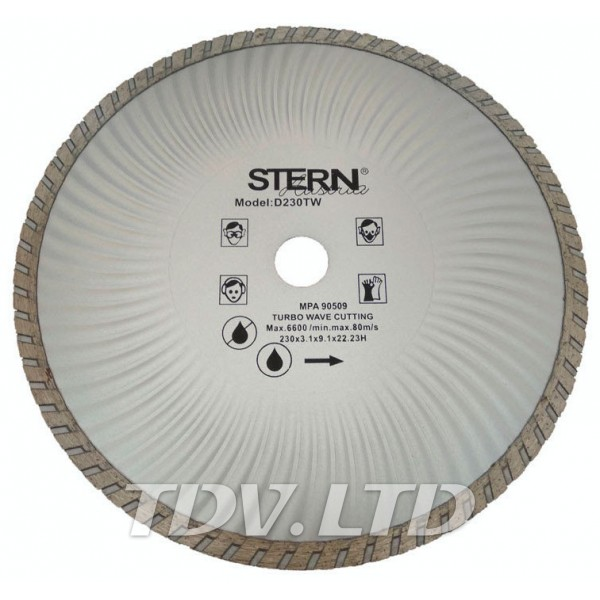Диск алмазный отрезной Stern 230мм TW