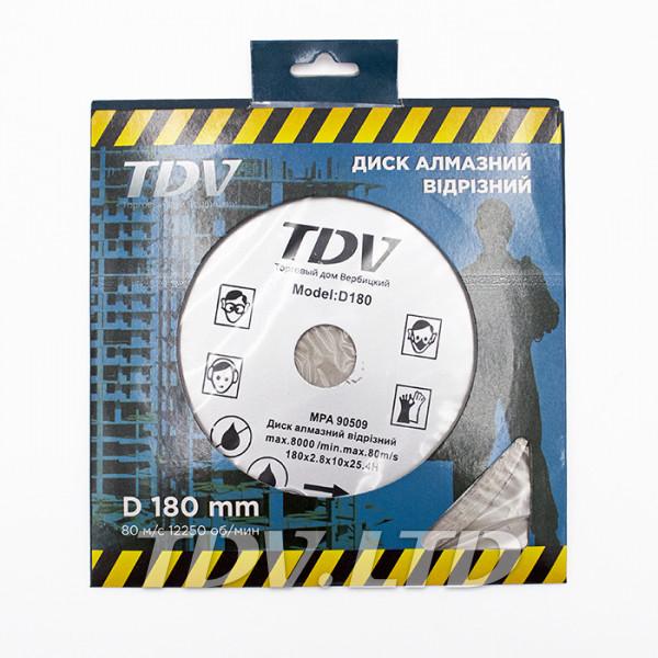 Диск алмазный отрезной TDV 180x25.4мм C