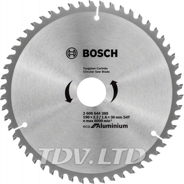 Диск пильный Bosch 190x54x30 по алюминию