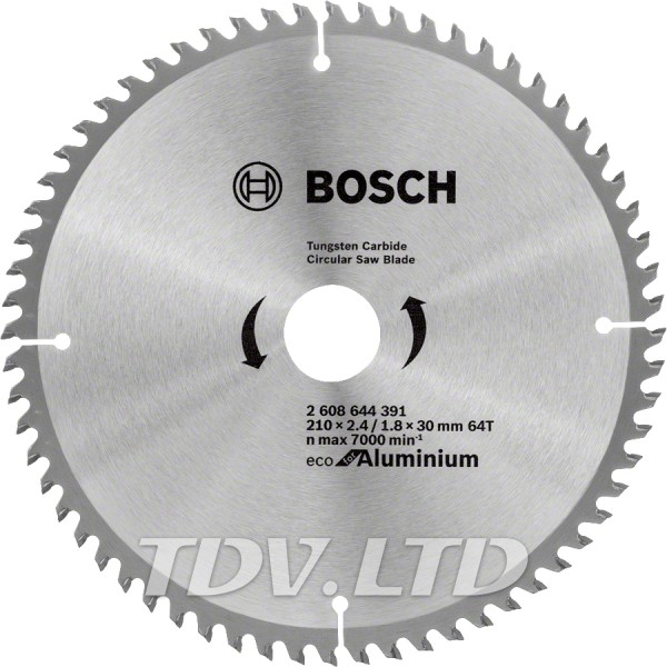 Диск пильный Bosch 210x64x30 по алюминию