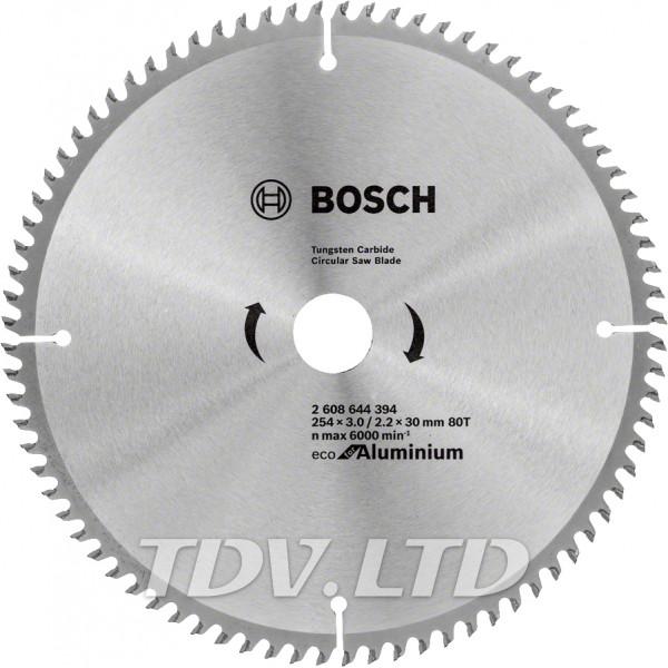 Диск пильный Bosch 254x80x30 по алюминию
