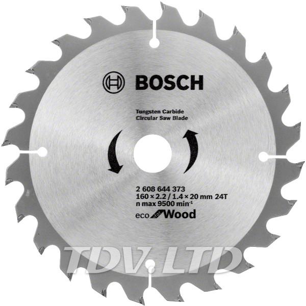 Диск пильный Bosch 160x24x20 по дереву