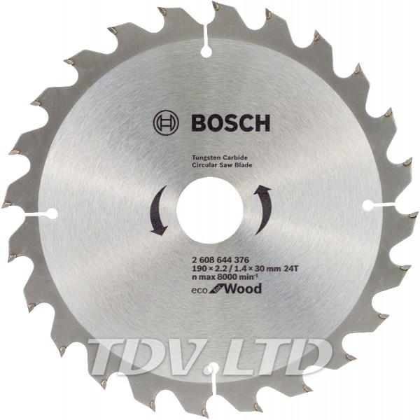 Диск пильный Bosch 190x24x30 по дереву