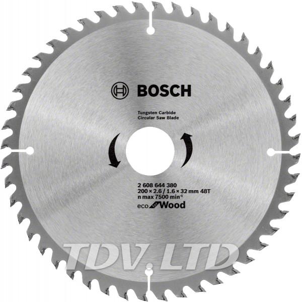 Диск пильный Bosch 200x48x32 по дереву
