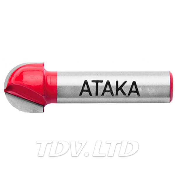 Фреза пазовая галтельная Атака Ø8x15.9R7.9мм (401159)