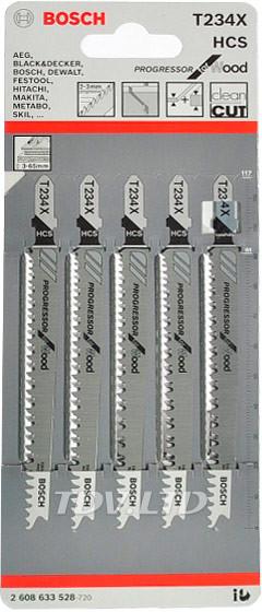 Пилочки для электролобзика Bosch T234X (5шт.)