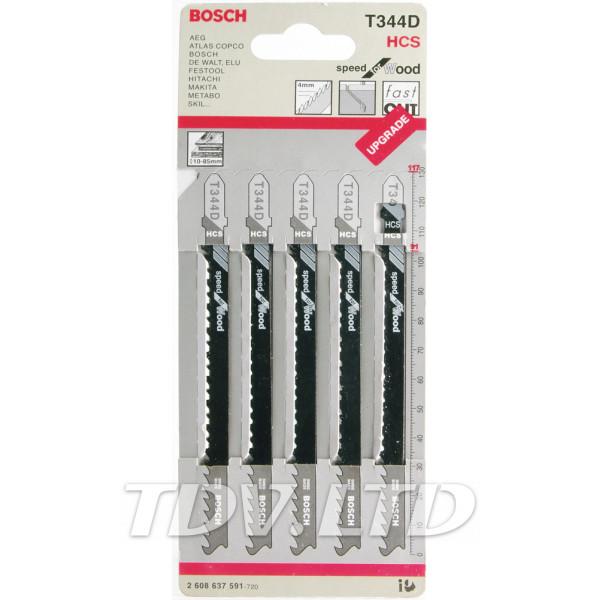 Пилочки для электролобзика Bosch T344D (5шт.)