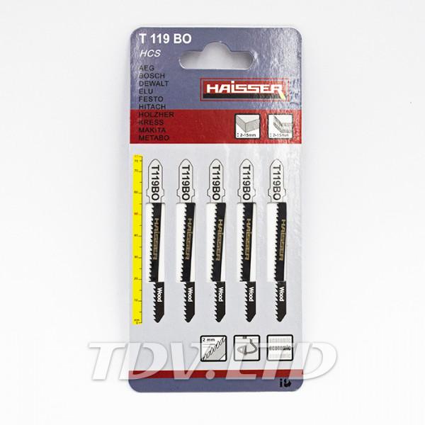 Пилочки для электролобзика Haisser T119BО 50мм (5шт.)